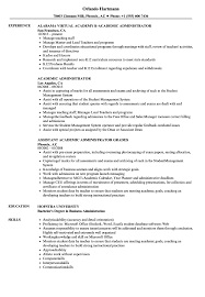 Academic Resume Sample Academic Administrator Resume Samples Velvet Jobs 30