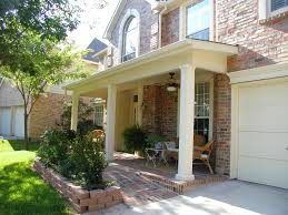 mid century modern front porch. Beauteous Midcentury Three White Columns Front Porch And Brick Wall Ideas Mid Century Modern 1