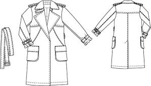 Trench Coat Pattern Custom Classic Trench Coat Plus Size 4848 48 Sewing Patterns