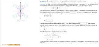 example 5 find the orthogonal trajectories of the family of curvesx ky2 where k