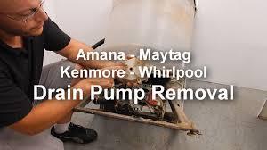 Washer Not Draining Or Spinning Maytag Amana Washer Not Draining Or Spinning Removing The