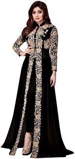 Fashion Designing Salwar Kameez 2013 Ethnic Emporium Shamita Bollywood Party Wear Long Pakistani Kaftan Style Salwar Kameez Muslim Eid Womens 651