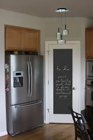 Chalkboard paint a MIRROR and HANG on pantry door. :