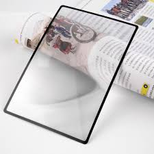 magnifying sheet lupa magnifier 180x120mm convinient a5 flat pvc sheet x3 book page