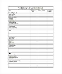 Food Storage Blank Inventory Sheets Pdf Template Free
