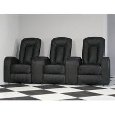 home theater seating. leather home theater group seating row of 3