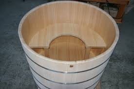absolutely wood soaking tub wooden bathtub 63 inch freestanding