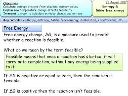 Gibbs Free Energy Entropy Enthalpy Chart New Aqa A2 Therrmodynamics Entropy And Gibbs Free Energy
