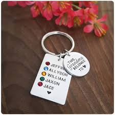 this grandma belongs to personalized keychain