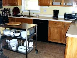 kitchen table on wheels utility with stainless steel folding wheel
