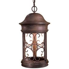 sage ridge vintage rust 1 light indoor outdoor hanging lantern