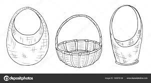 эскизы плетеные корзины различной формы от руки рисунок Wi