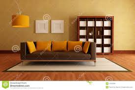 Orange And Yellow Living Room Brown And Orange Living Room Stock Image Image 13153381