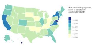 Texas Hourly Wage Calculator This Map Shows The Living Wage For A Single Person Across America