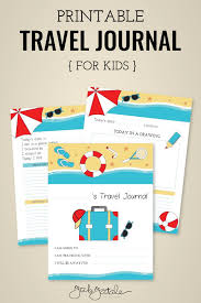 Kids Travel Journal Free Printable Fab Fatale
