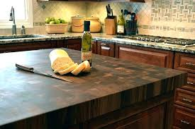 built in cutting board country style kitchen with end grain island countertop cu cutting board