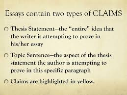 ppt art of writing powerpoint presentation id  essays contain two types of claims
