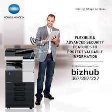 22/14 ppm in black & white and colour. Konica Bizhub 227 Laser Multi Function Copier Tech Nuggets