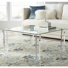 Bristol Square Clear Acrylic Coffee Table - Style # 1G404