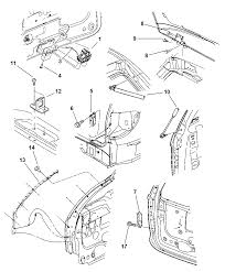 2004 chrysler town country liftgate panel attaching parts diagram 00i82462