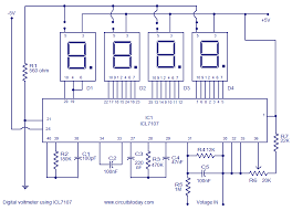 dc voltmeter wiring diagram digital voltmeter using icl7107 electronic circuits and diagram circuit diagram notes