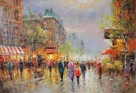 oil paintings paris street scenes on canvas oil paintings paintings of paris