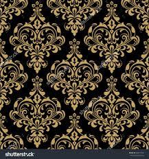 Baroque Design Wallpaper Floral Pattern Wallpaper Baroque Damask Seamless