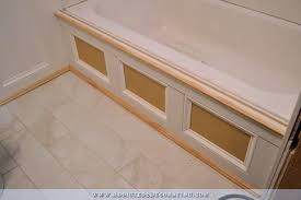 diy bathtub skirt step 6 add decorating moulding to inside frames