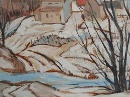 CANADIAN ARTIST BETTY McARTHUR SIGNED LANDSCAPE OIL PAINTING ...