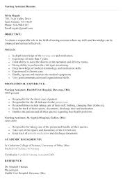 Nurse Assistant Resume Unique Nurse Aide Resume Examples Thevillasco