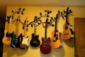 wall mounted guitar holders guitar wall hangers wall mount guitar hanger of forged vine and leaves