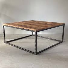 hammered steel gallery coffee table