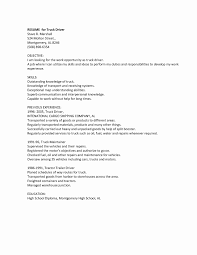 Truck Driver Resume Objectives Examples Best Resume Templates