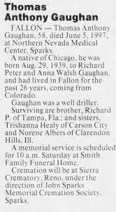 Thomas Anthony Gaughan obituary - Newspapers.com