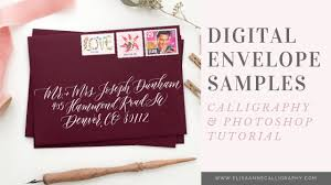 Create Digital Envelope Calligraphy Samples Within Photoshop Intermediate Video
