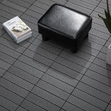 VivaGarden Piastrelle da Giardino Incastrabili Set da 11 Mattonelle Per  Esterno Pavimentazione Giardino Grigio 30x30x2.2 cm - 844D14GY