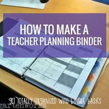 how to make a teacher planning binder binder basics kindergartenworks
