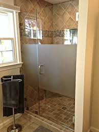clear shower unit with acid etch privacy