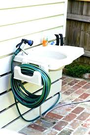 diy outdoor sink powered by a water hose portable outdoor sink portable outdoor sink with detachable
