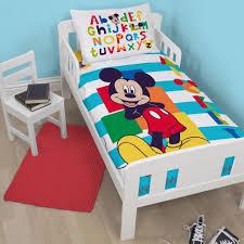 adorable cartoon disney print bedding set cotton royal blue mickey mouse comforterbed