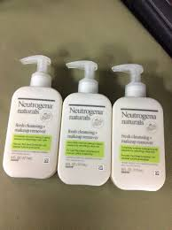 neutrogena 3 pack naturals fresh cleansing makeup remover 6 fl oz each 70501025185 ebay