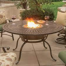tropitone patio furniture fire table