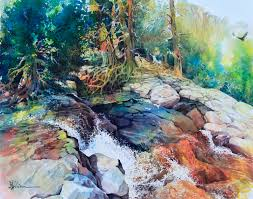 lian quan zhen egal fall watercolour