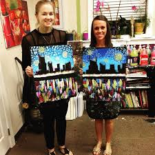 byob painting class paint plus canvas inc groupon awesome sauce byob painting painted canvas and canvases