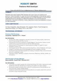 Resume Building Websites Freelance Web Developer Resume Samples Qwikresume