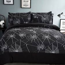 black white spider web bedding set geometric kids boys men duvet cover set twin queen king size 3 4pcs without filler bed sheet in bedding sets from home