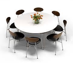 modern round dining table monumental luxury danish dm6690 wharfside interior design 11