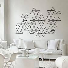 geometric mid century modern triangles decal masking tape walldiy  on mid century modern wall art diy with 21 best mid century style images on pinterest mid century style
