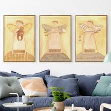07g cute comfort peace tranquil angel a4 a3 a2 canvas art painting print poster picture wall on tranquil bedroom wall art with buy tranquil wall art and get free shipping on aliexpress