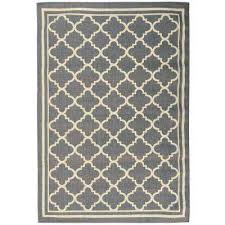 summer collection moroccan trellis design natural mocha 5 ft x 7 ft indoor